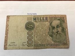 Italy Marco Polo Banknote 1000 Lire 1982 #12 - [ 1] …-1946 : Regno