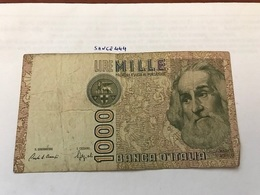 Italy Marco Polo Banknote 1000 Lire 1982 #12 - [ 1] …-1946: Königreich