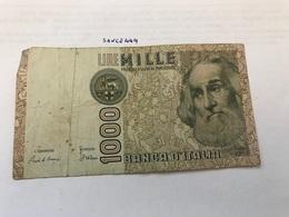 Italy Marco Polo Banknote 1000 Lire 1982 #14 - [ 1] …-1946 : Regno
