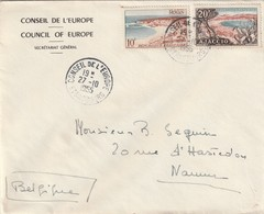 Strasbourg : T. à D. Du Conseil De L'Europe / 978 + 981 Sur Env. Id° Pour Namur (Belgique). - Poststempel (Briefe)