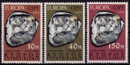 Chypre - Europa CEPT 1974 - Yvert Nr. 401/403 - Michel Nr. 409/411 ** - 1974