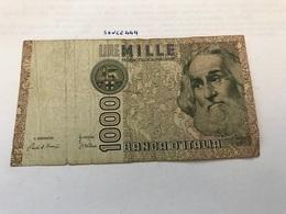 Italy Marco Polo Banknote 1000 Lire 1982 #15 - [ 1] …-1946 : Regno