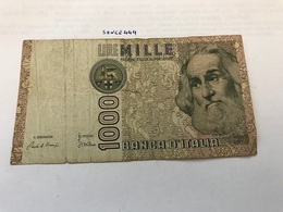 Italy Marco Polo Banknote 1000 Lire 1982 #15 - [ 1] …-1946: Königreich