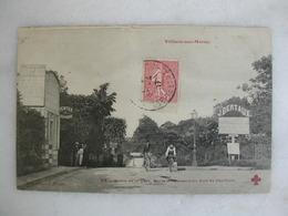 VILLIERS SUR MARNE - Sortie De La Gare - Route Conduisant Au Bois De Gaumont (animée) - Villiers Sur Marne