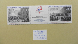 Europe > France > Paire :timbres  Triptyque  Neuf N° T2538A  Philexfrance 1989 - Nuovi