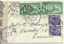 RSC114-Espresso Con Monumenti Distrutti 21.11.1944 - Timbri E Fascetta Di Censura - 4. 1944-45 Repubblica Sociale