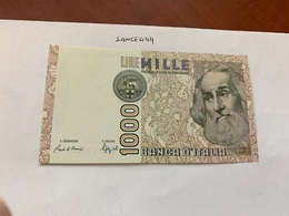 Italy Marco Polo Banknote 1000 Lire 1982 #16 - [ 1] …-1946 : Regno