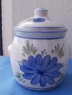 Sucrier Décoré De Fleurs Bleues - Dishware, Glassware, & Cutlery