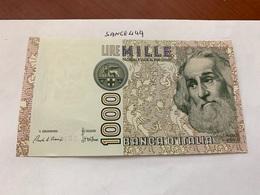 Italy Marco Polo Banknote 1000 Lire 1982 #18 - [ 1] …-1946: Königreich