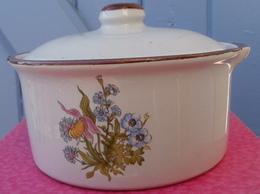 Sucrier Drageoir Bonbonnière, Motif De Fleurs - Dishware, Glassware, & Cutlery