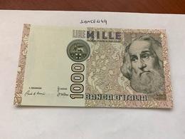 Italy Marco Polo Banknote 1000 Lire 1982 #19 - [ 1] …-1946 : Regno