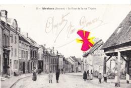 AIRAINES (Somme) - Le Haut De La Rue Tripier - Carte Animée - France