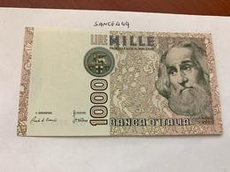 Italy Marco Polo Banknote 1000 Lire 1982 #20 - [ 1] …-1946: Königreich