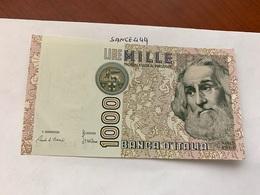 Italy Marco Polo Banknote 1000 Lire 1982 #22 - [ 1] …-1946: Königreich