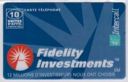 INTERCALL  - 10 Unités - Fidelity Investments - Tirage : 6.000 Ex - Code Gratté - Voir Scans - Francia
