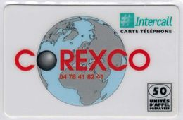 INTERCALL  - 50 Unités - COREXCO - Tirage : 1.000 Ex- Code Non Gratté - Voir Scans - Francia