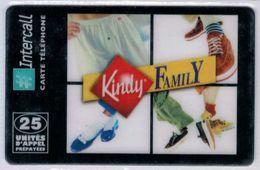 INTERCALL  - 25 Unités - Kindy Family - Tirage : 1.000 Ex - Code Gratté - Voir Scans - Francia