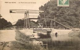 CPA FRANCE - 16 - Pont-sur-Seine - Le Pont-levis Sur Le Canal - Francia