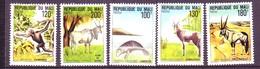 Mali 1980 MiNr. 744 - 748 Rare Animals   5v  MNH  7,50 € - Chimpancés