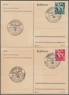 """Deutsches Reich: 2 Sonderkarten Mi.-Nr. 660 U. 661 SST: """" 5. Jahrestag Machtergreifung Adolf Hitler """" - Briefe U. Dokumente"""