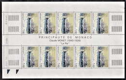 MONACO 1990 - FEUILLE DE 10 TP /  N° 1747 - NEUFS** - Monaco