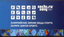 Russia, 2014, Mi. 1761-63II, 1873-78II, 1942-43II, 1975-77II, Olympic Games, Sochi, Prestige Booklet - Unused Stamps