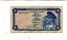 BRUNEI 1 DOLLAR 1967 VF 4.95 - Brunei