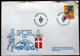 Denmark 1984 Olympische Spiele / Olympic Games  MiNr.801  FDC  ( Lot Ks) - FDC