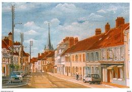 S. Photo Cpsm Cpm PEINTURES & TABLEAUX. Rue à Guignes Par Jourdier - Peintures & Tableaux