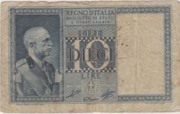 Italie - Billet De 10 Lire - Vittorio-Emmanuele III - 20 Juin 1935 - Italia – 10 Lire