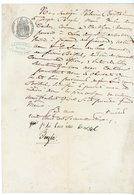 ARDECHE FISCAL 50C 1870 JOYEUSE. PROCURATION DE VENTE DE TITRES PHIMOMENE BOISSEL DE COURLAS A CASTELJAU ET JOSEPH BAYLE - Historische Documenten