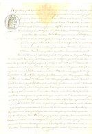 ARDECHE FISCAL 1F (BLEU) 1877 FAIT A JOYEUSE TRIBUNAL LARGENTIERE CHARRIERE LOUIS LUCIEN PROPRIETAIRE DEMEURANT LIEU DIT - Historische Documenten
