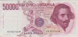 Italie - Billet De 50000 Lire - Gian Lorenzo Bernini - 6 Février 1984 - P113a - 50000 Lire