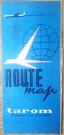 Romania, 1980's, Vintage Flight Route Map - TAROM Airlines - Documentos Históricos