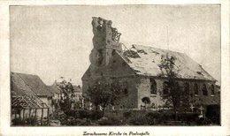Langemark-Poelkapelle Zerschossene Kirche In Poelcapelle  1914/15  WWI WWICOLLECTION - Langemark-Poelkapelle