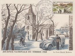 Carte  Maximum  1er  Jour  FRANCE   JOURNEE  Du  TIMBRE   ALBI   1958 - 1950-59