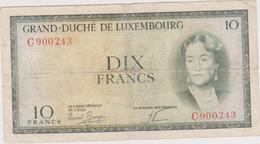 Luxembourg - Billet De 10 Francs - Grande-Duchesse Charlotte - Non Daté (1954) - P48a - Luxembourg