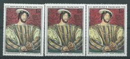 [37] Variété N° 1518 François 1er Fond Lie De Vin Rose + Lie De Vin Rouge + Lie De Vin Orange ** - Varieties: 1960-69 Mint/hinged