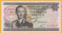 Luxembourg - Billet De 50 Francs - Grand-Duc Jean - 25 Août 1972 - P55a - Luxembourg