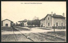 CPA Citon-Cénac, Motiv Vom La Gare - Non Classés