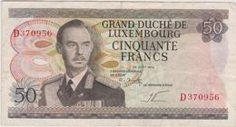 Luxembourg - Billet De 50 Francs - Grand-Duc Jean - 25 Août 1972 - P55b - Luxemburg