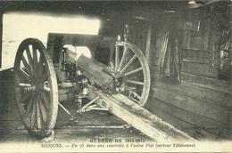 02  SOISSONS - UN 75 DANS UNE CASEMATE A L' USINE PIAL (secteur Villeneuve) (ref 9360) - Soissons