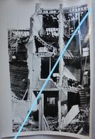 Photo LIEGE 1944-45 Rue Douffet Maisons En Ruine Bombardement V1 V2 Robots Guerre - Lieux
