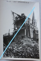 Photo LIEGE 1944-45 Rue Du Pommier Maisons En Ruine Bombardement V1 V2 Robots Guerre - Lieux