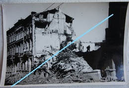 Photo LIEGE 1944-45 Rue D'Artois Maisons En Ruine Bombardement V1 V2 Robots Guerre - Lieux
