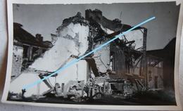 Photo LIEGE 1944-45 Rue Mathieu Polain Maisons En Ruine Bombardement V1 V2 Robots Guerre - Lieux