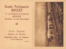 20-5732 : CALENDRIER 1949 DE LA GRANDE PARFUMERIE BOULET RUE GUILLAUME LE CONQUERANT A ROUEN. - Parfum & Kosmetik