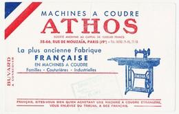 Buvard  20.6 X 13 Machines à Coudre ATHOS   Cachet Du Magasin DARET-SPORTS Saint-Etienne Loire - Buvards, Protège-cahiers Illustrés