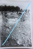 Photo LIEGE 1944-45 Cimetière Sainte Walburge Cemetry Tombes Graves Bombardement V1 V2 Robots Guerre - Lieux