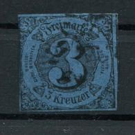 Thurn Und Taxis: 3 Kr. MiNr. 8 1852-1858 Gestempelt / Used / Oblitéré - Thurn And Taxis